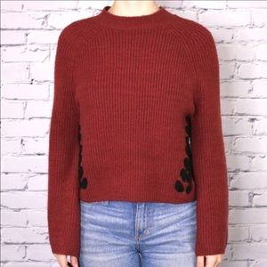 NWT Design Lab cropped sweater bell sleeve b2.